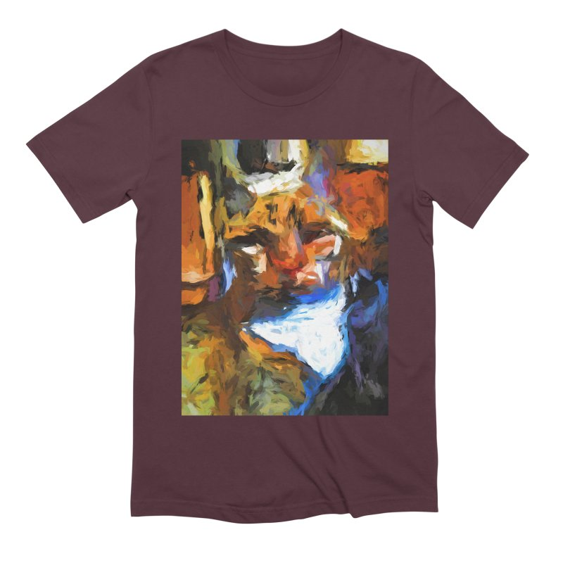 Cat Behind Cat in the Kitchen Men's Extra Soft T-Shirt by jackievano's Artist Shop