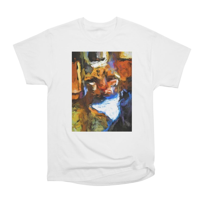 Cat Behind Cat in the Kitchen Women's Heavyweight Unisex T-Shirt by jackievano's Artist Shop