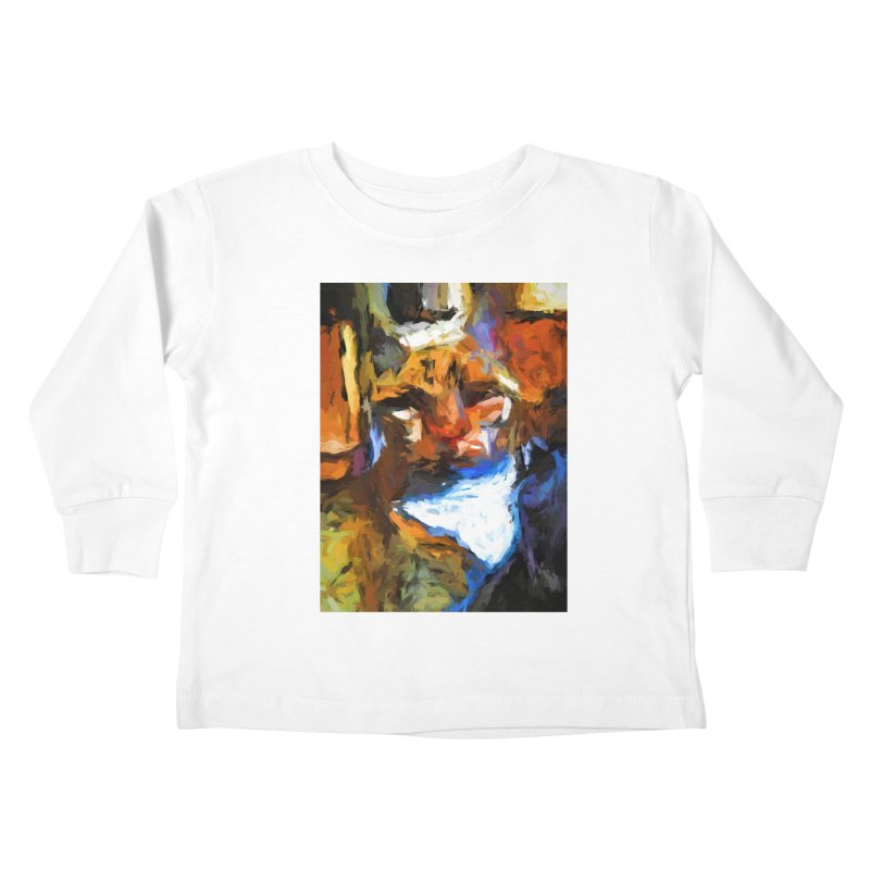 Cat Behind Cat in the Kitchen Kids Toddler Longsleeve T-Shirt by jackievano's Artist Shop