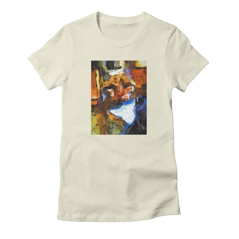 Cat Behind Cat in the Kitchen Women's Fitted T-Shirt by jackievano's Artist Shop