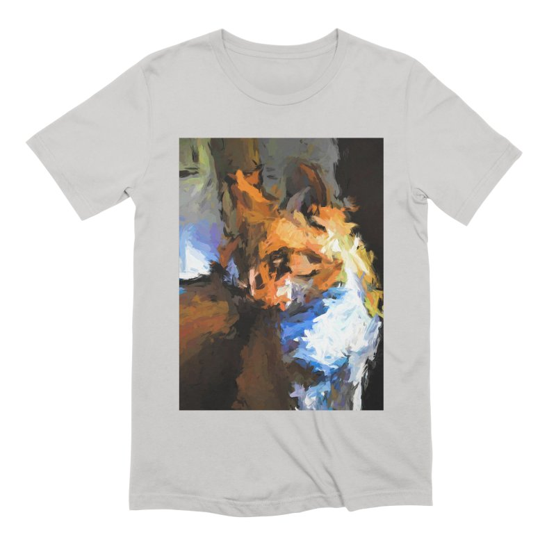 Cat with the Turned Head Men's Extra Soft T-Shirt by jackievano's Artist Shop