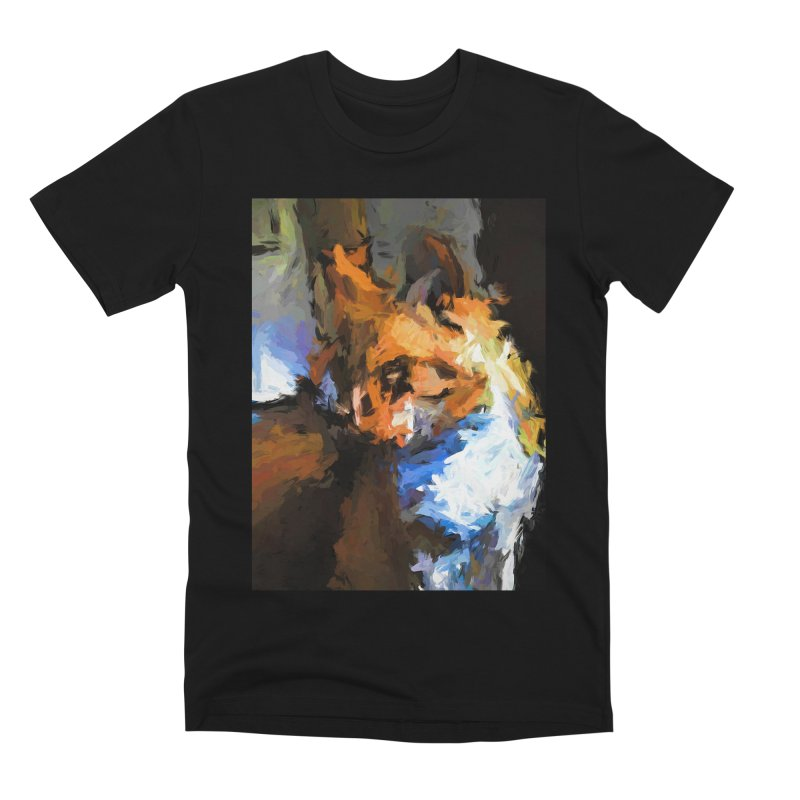 Cat with the Turned Head Men's Premium T-Shirt by jackievano's Artist Shop