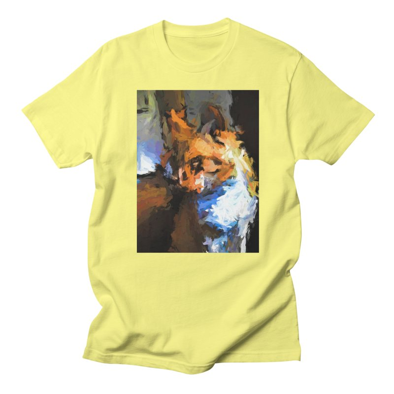 Cat with the Turned Head Men's Regular T-Shirt by jackievano's Artist Shop