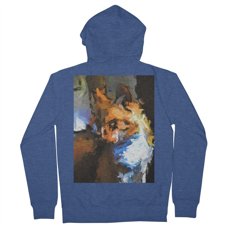 Cat with the Turned Head Women's French Terry Zip-Up Hoody by jackievano's Artist Shop