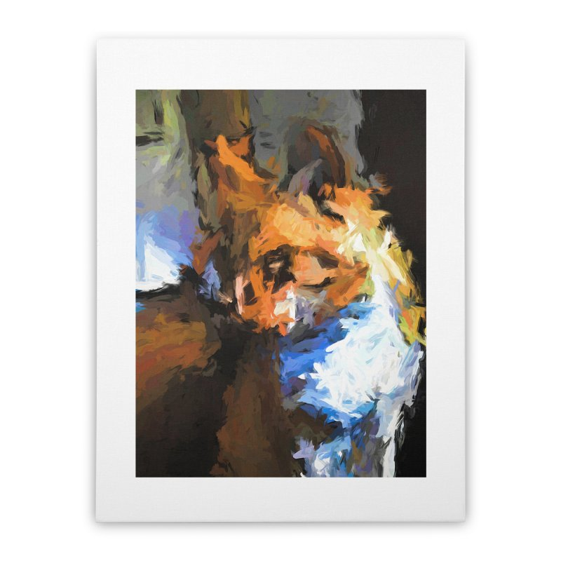 Cat with the Turned Head Home Stretched Canvas by jackievano's Artist Shop