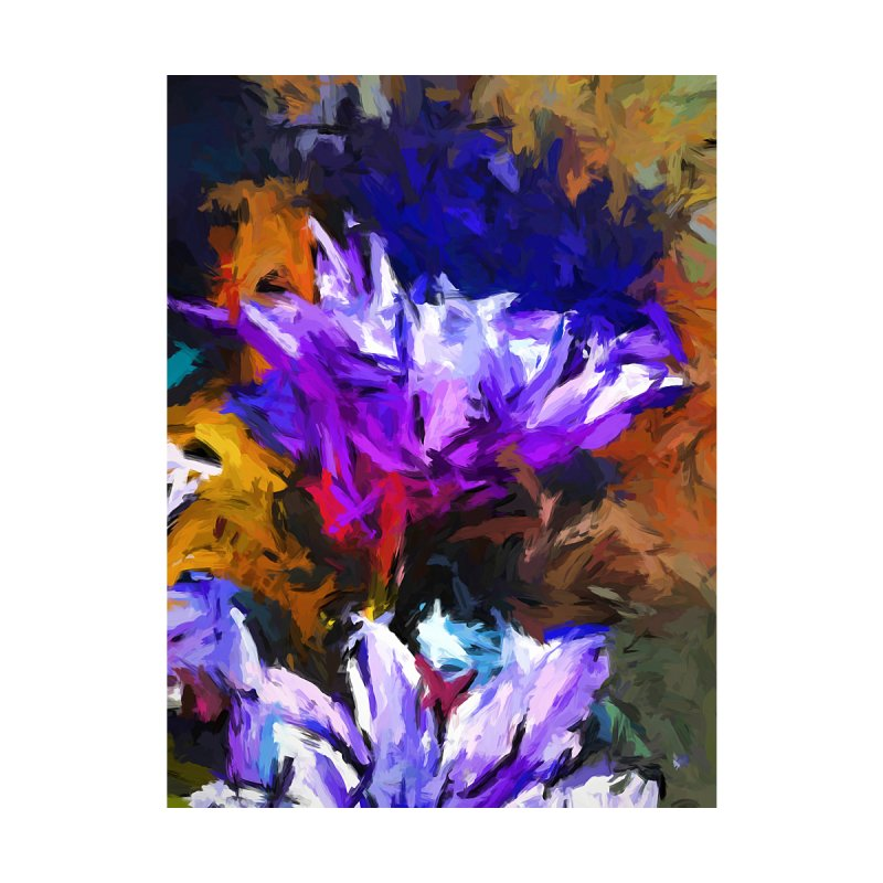 Lavender Flower and the Cobalt Blue Reflection by jackievano's Artist Shop