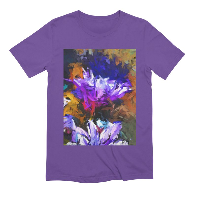 Lavender Flower and the Cobalt Blue Reflection Men's Extra Soft T-Shirt by jackievano's Artist Shop