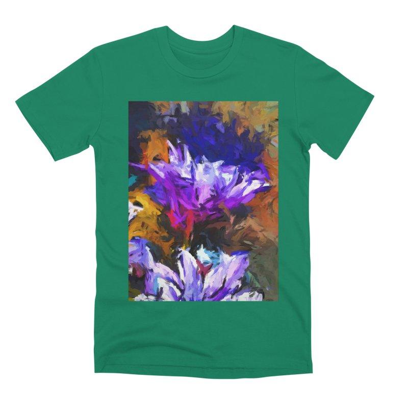 Lavender Flower and the Cobalt Blue Reflection Men's Premium T-Shirt by jackievano's Artist Shop