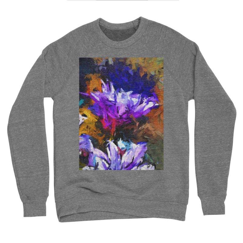 Lavender Flower and the Cobalt Blue Reflection Men's Sponge Fleece Sweatshirt by jackievano's Artist Shop
