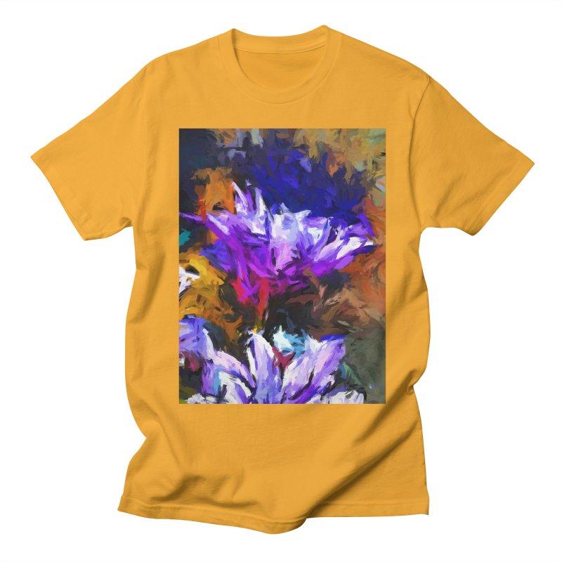 Lavender Flower and the Cobalt Blue Reflection Men's Regular T-Shirt by jackievano's Artist Shop