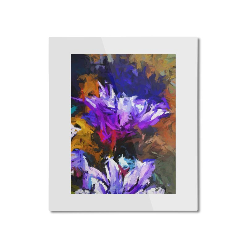 Lavender Flower and the Cobalt Blue Reflection Home Mounted Aluminum Print by jackievano's Artist Shop
