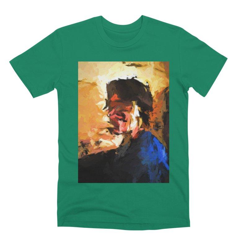 Man in the Cobalt Blue Shirt Men's Premium T-Shirt by jackievano's Artist Shop