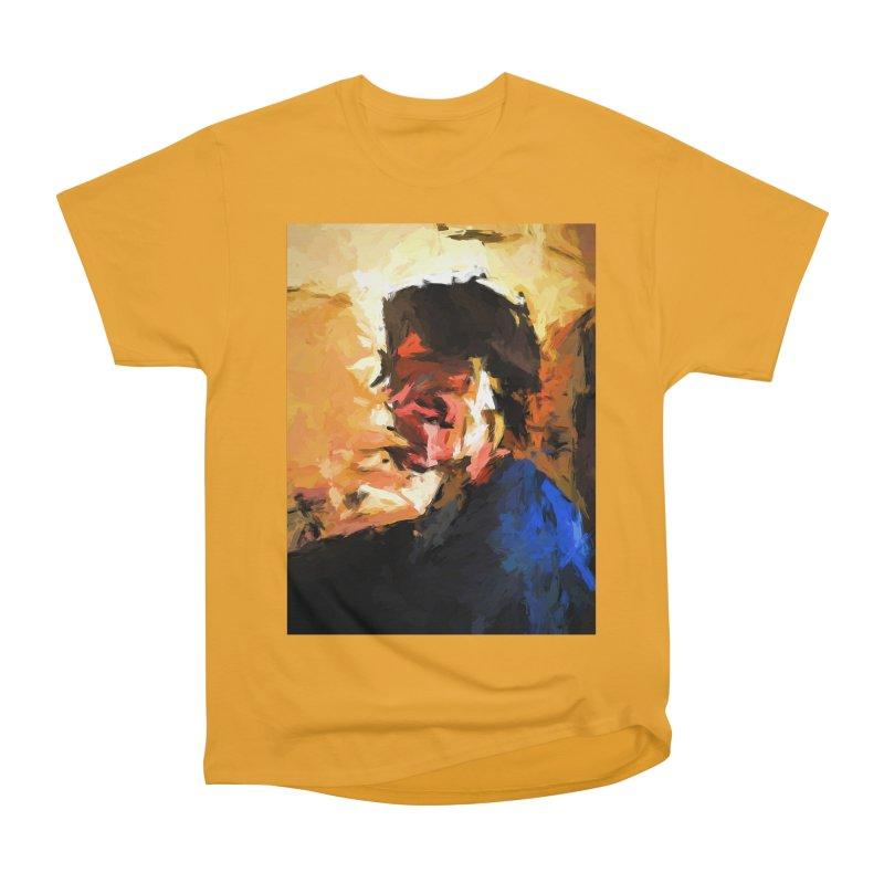 Man in the Cobalt Blue Shirt Women's Heavyweight Unisex T-Shirt by jackievano's Artist Shop