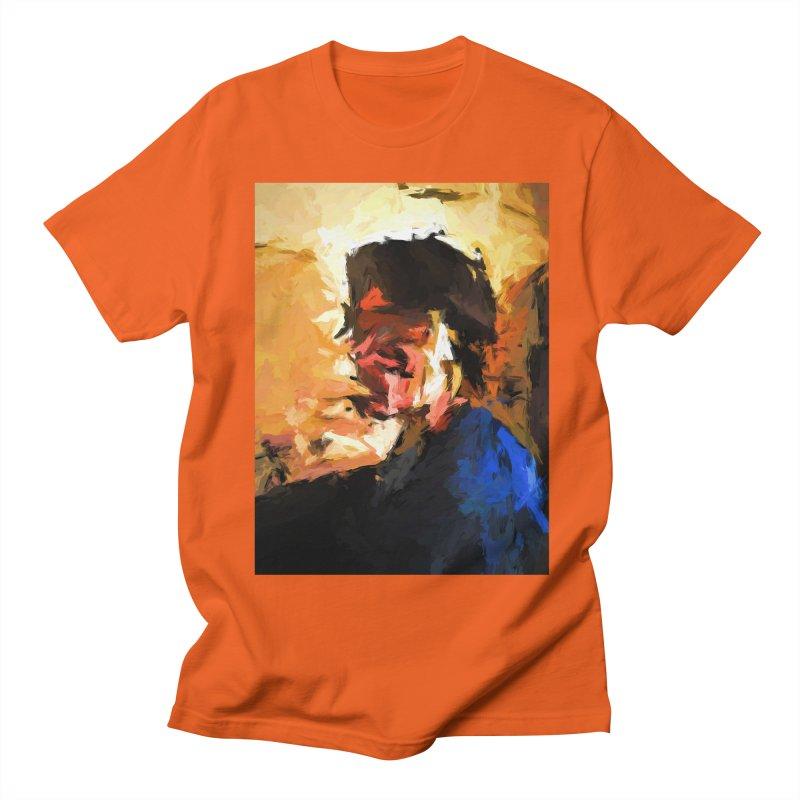 Man in the Cobalt Blue Shirt Men's Regular T-Shirt by jackievano's Artist Shop