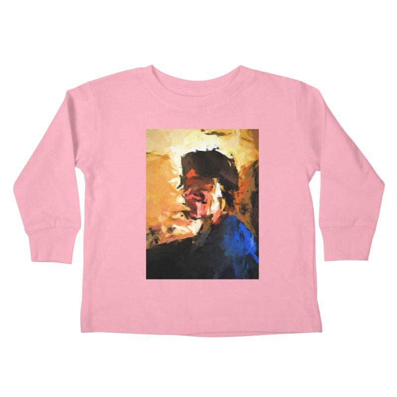 Man in the Cobalt Blue Shirt Kids Toddler Longsleeve T-Shirt by jackievano's Artist Shop