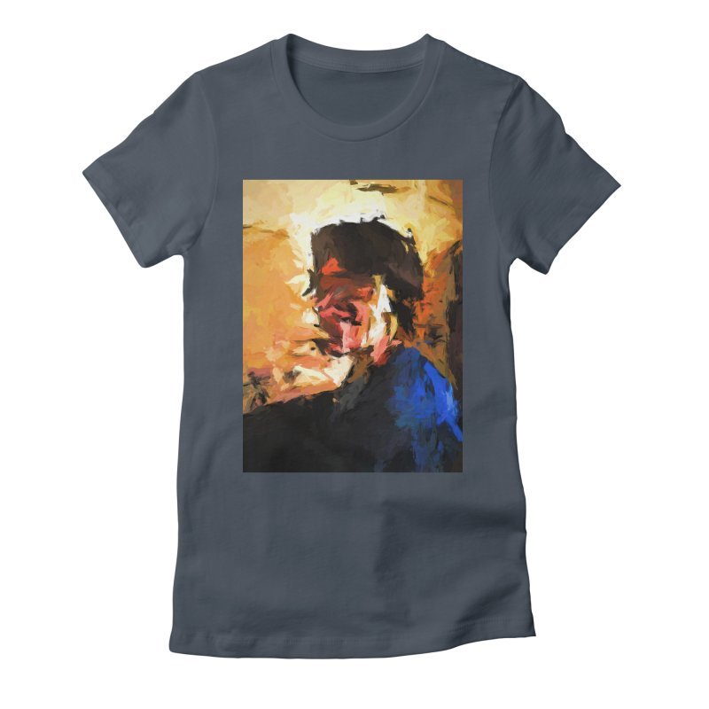 Man in the Cobalt Blue Shirt Women's Fitted T-Shirt by jackievano's Artist Shop