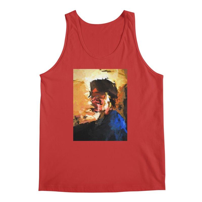 Man in the Cobalt Blue Shirt Men's Regular Tank by jackievano's Artist Shop