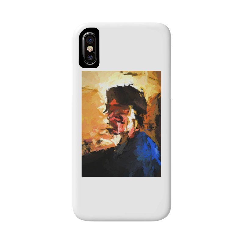 Man in the Cobalt Blue Shirt Accessories Phone Case by jackievano's Artist Shop