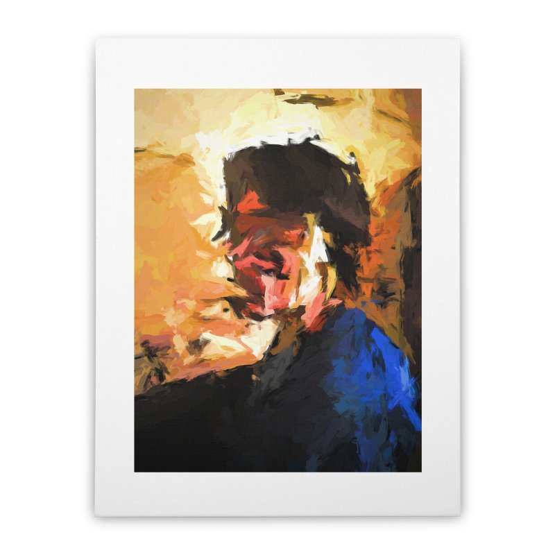 Man in the Cobalt Blue Shirt Home Stretched Canvas by jackievano's Artist Shop