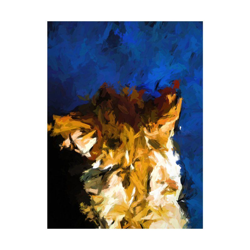 Cat and the Cobalt Blue Wall by jackievano's Artist Shop