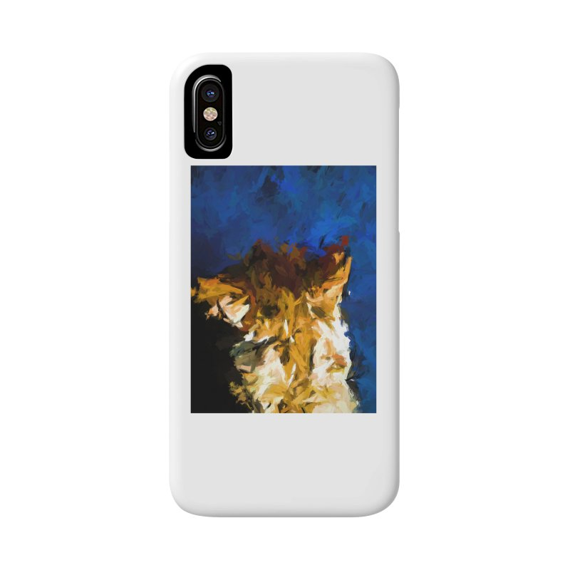 Cat and the Cobalt Blue Wall Accessories Phone Case by jackievano's Artist Shop