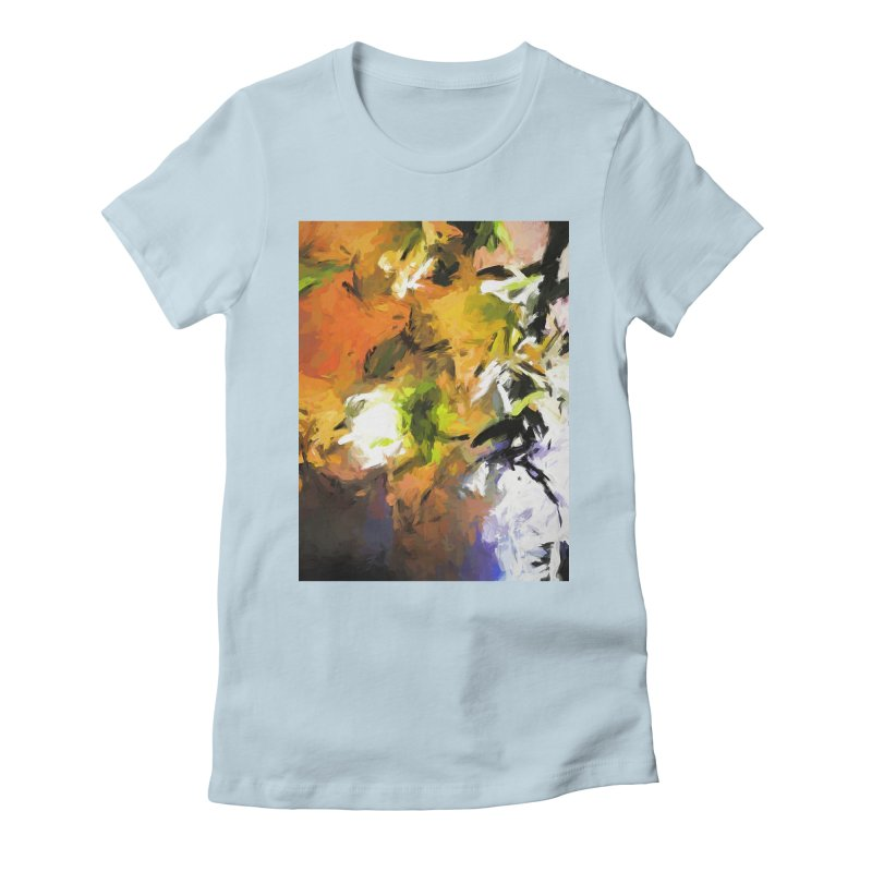 Lily for the Horses Women's Fitted T-Shirt by jackievano's Artist Shop