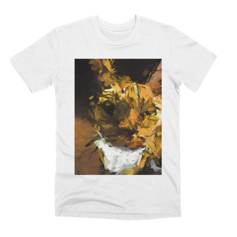 Cat Up Close Men's Premium T-Shirt by jackievano's Artist Shop