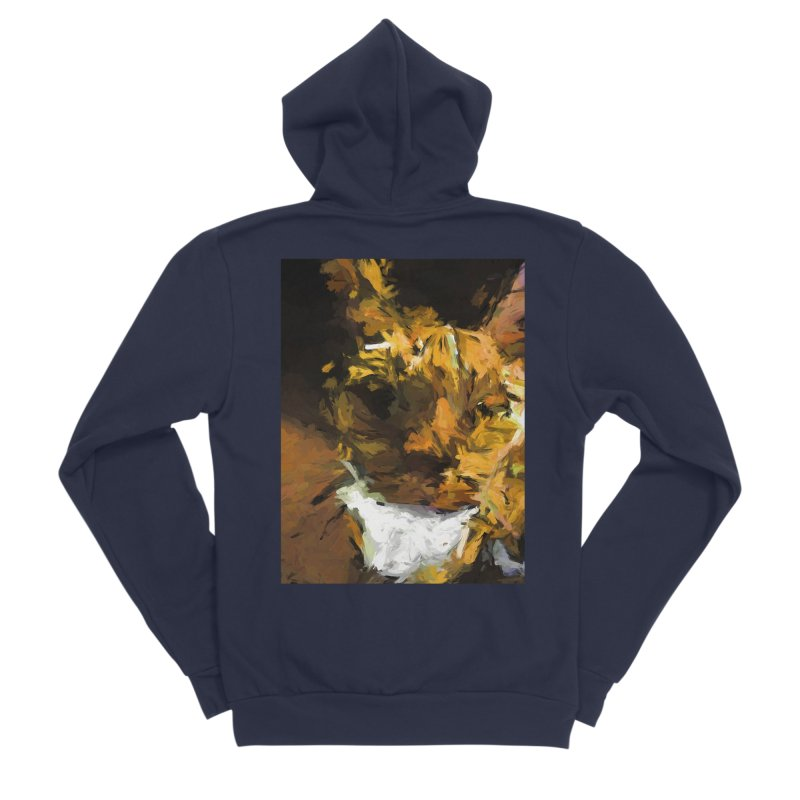 Cat Up Close Women's Sponge Fleece Zip-Up Hoody by jackievano's Artist Shop