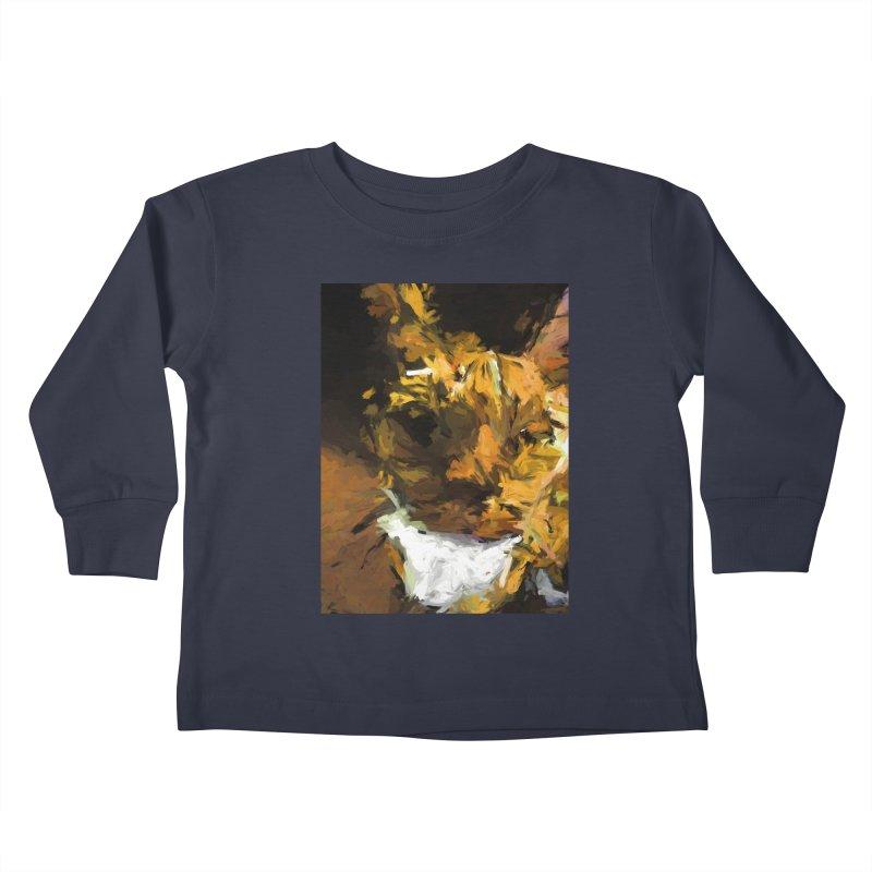 Cat Up Close Kids Toddler Longsleeve T-Shirt by jackievano's Artist Shop