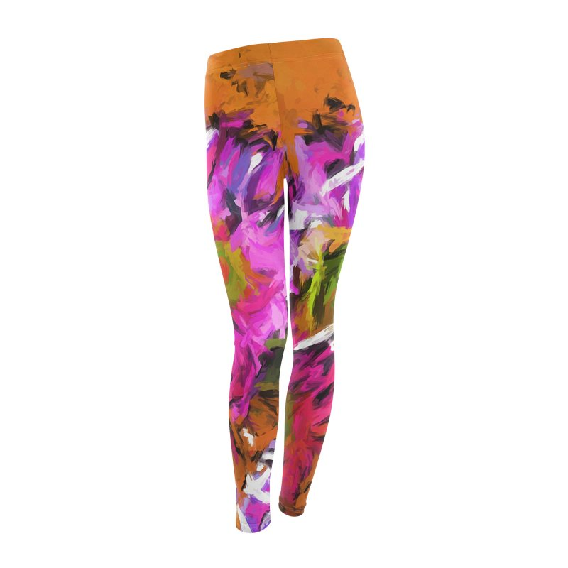Daisy Rhapsody in Lavender and Pink Women's Leggings Bottoms by jackievano's Artist Shop