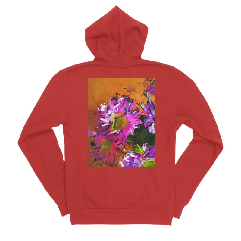 Daisy Rhapsody in Lavender and Pink Women's Zip-Up Hoody by jackievano's Artist Shop