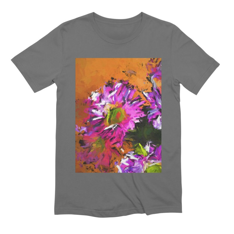 Daisy Rhapsody in Lavender and Pink Men's Extra Soft T-Shirt by jackievano's Artist Shop