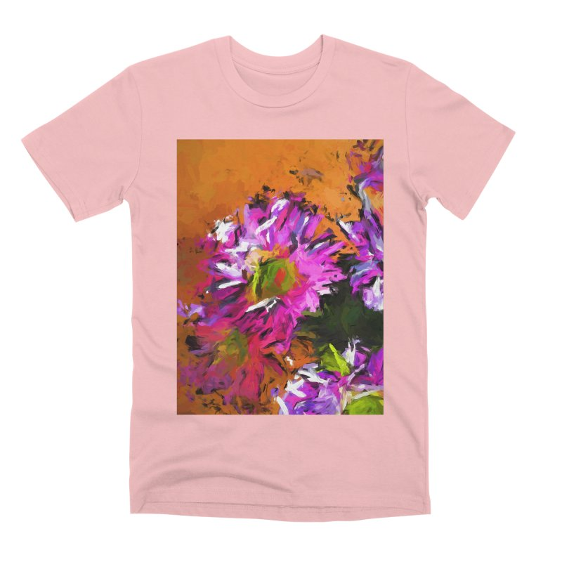 Daisy Rhapsody in Lavender and Pink Men's Premium T-Shirt by jackievano's Artist Shop