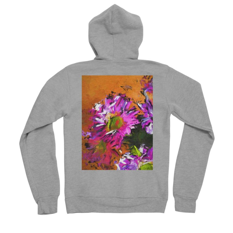 Daisy Rhapsody in Lavender and Pink Women's Sponge Fleece Zip-Up Hoody by jackievano's Artist Shop