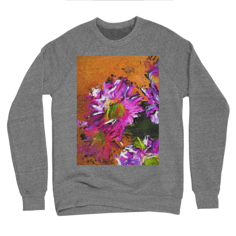 Daisy Rhapsody in Lavender and Pink Men's Sponge Fleece Sweatshirt by jackievano's Artist Shop