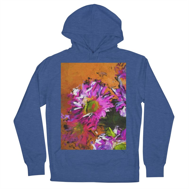 Daisy Rhapsody in Lavender and Pink Women's French Terry Pullover Hoody by jackievano's Artist Shop