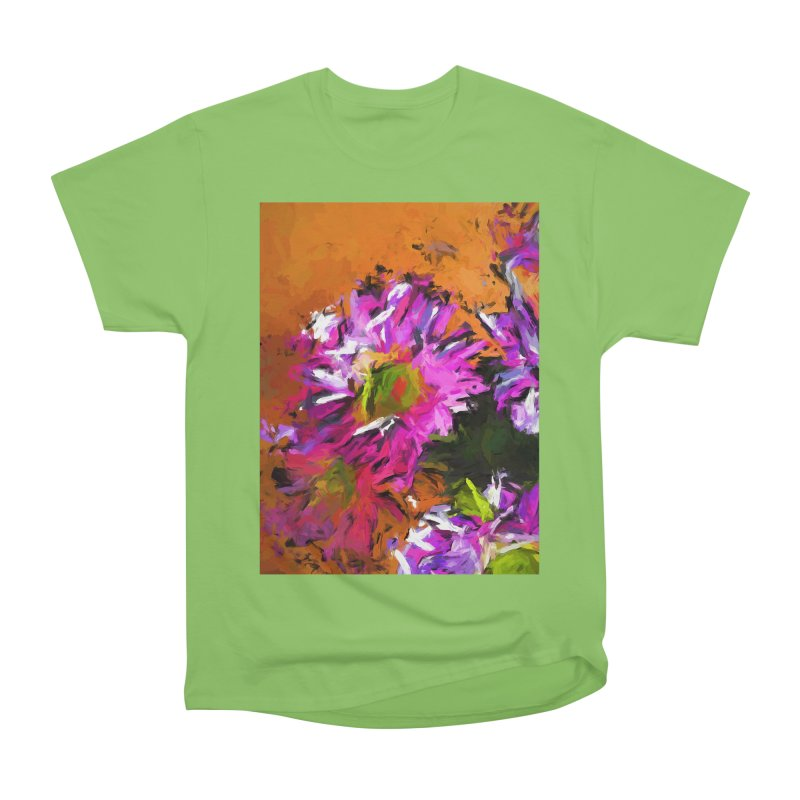 Daisy Rhapsody in Lavender and Pink Men's Heavyweight T-Shirt by jackievano's Artist Shop