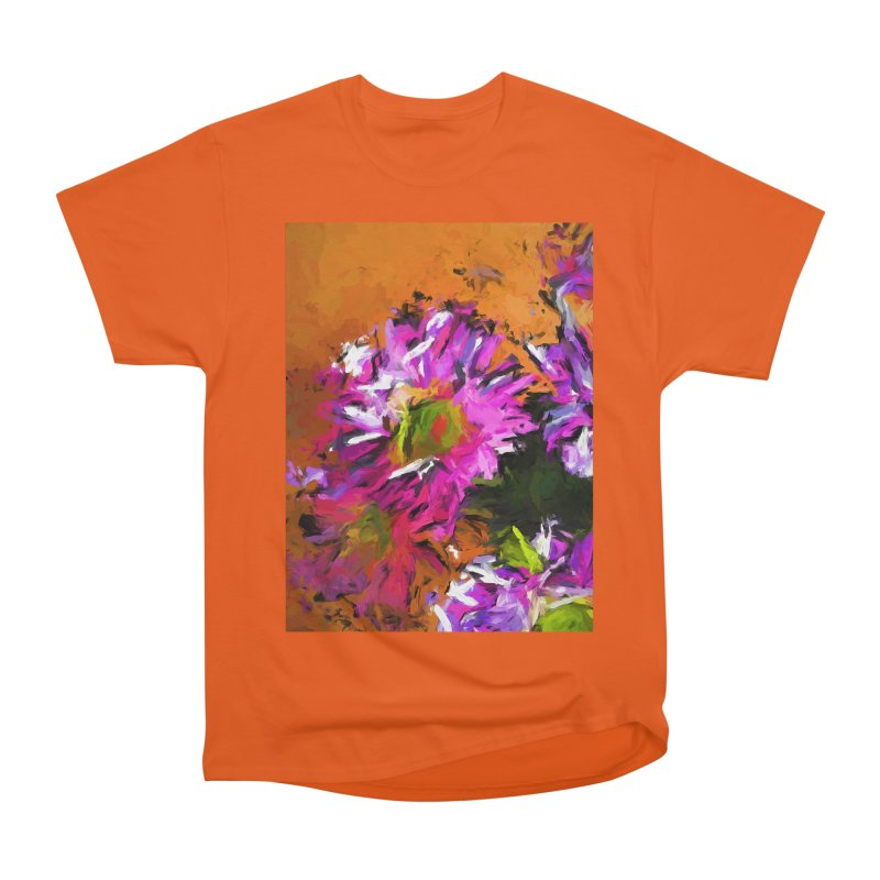 Daisy Rhapsody in Lavender and Pink Women's Heavyweight Unisex T-Shirt by jackievano's Artist Shop