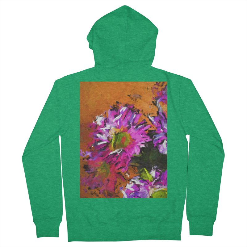 Daisy Rhapsody in Lavender and Pink Women's French Terry Zip-Up Hoody by jackievano's Artist Shop