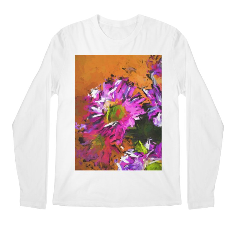 Daisy Rhapsody in Lavender and Pink Men's Regular Longsleeve T-Shirt by jackievano's Artist Shop