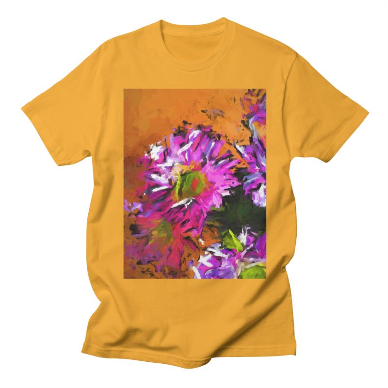 Daisy Rhapsody in Lavender and Pink Women's Regular Unisex T-Shirt by jackievano's Artist Shop