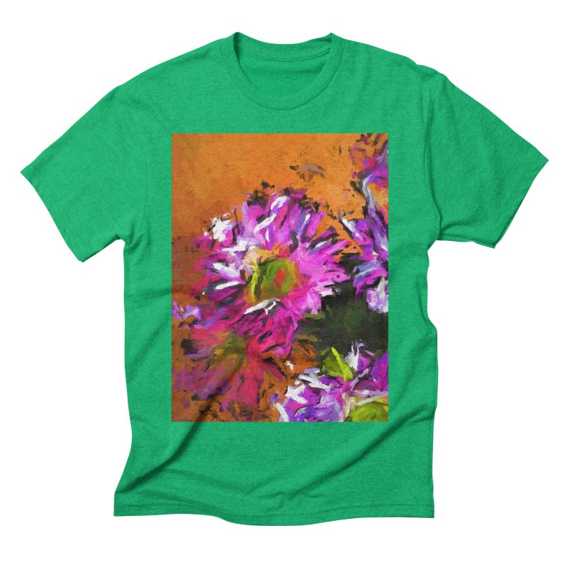 Daisy Rhapsody in Lavender and Pink Men's Triblend T-Shirt by jackievano's Artist Shop