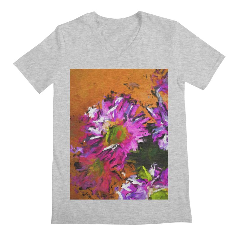 Daisy Rhapsody in Lavender and Pink Men's Regular V-Neck by jackievano's Artist Shop