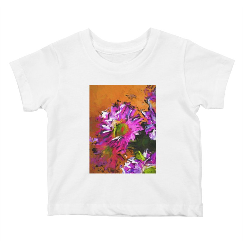 Daisy Rhapsody in Lavender and Pink Kids Baby T-Shirt by jackievano's Artist Shop