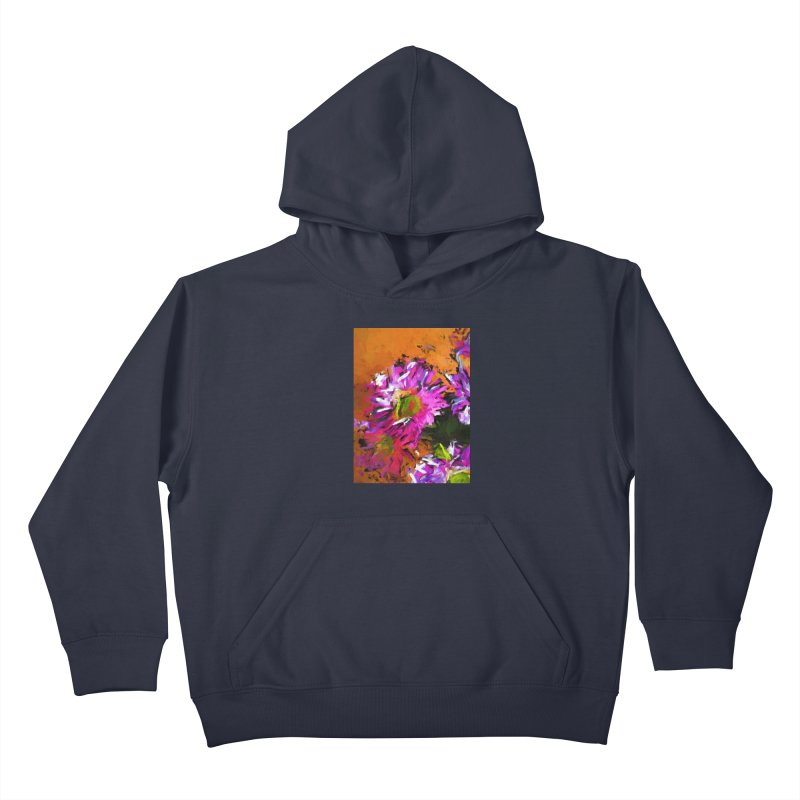 Daisy Rhapsody in Lavender and Pink Kids Pullover Hoody by jackievano's Artist Shop