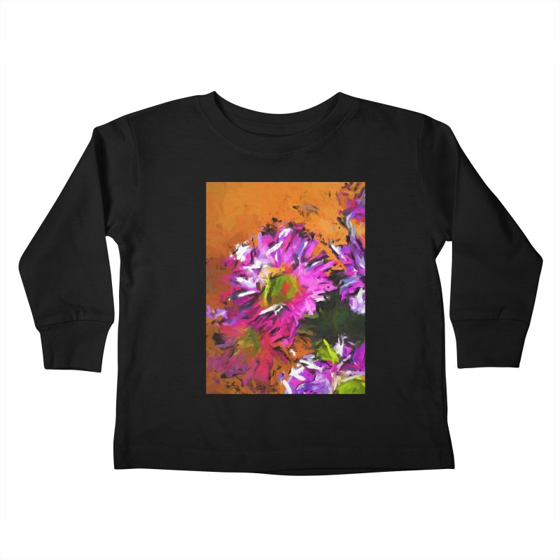 Daisy Rhapsody in Lavender and Pink Kids Toddler Longsleeve T-Shirt by jackievano's Artist Shop