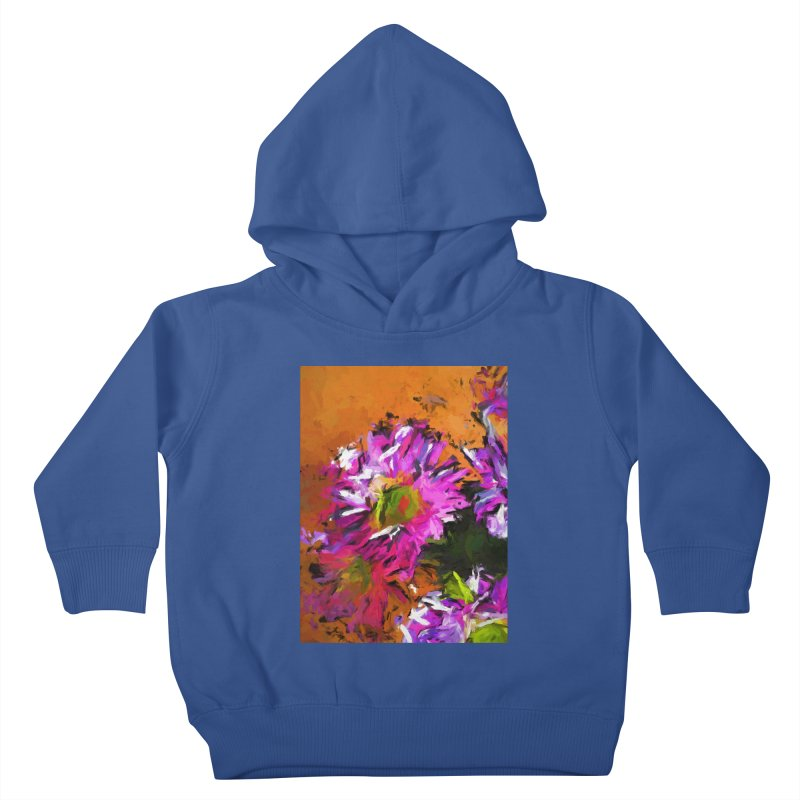 Daisy Rhapsody in Lavender and Pink Kids Toddler Pullover Hoody by jackievano's Artist Shop