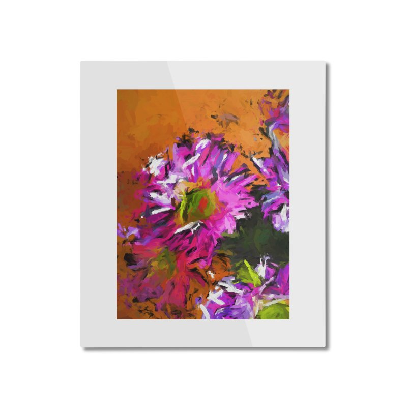 Daisy Rhapsody in Lavender and Pink Home Mounted Aluminum Print by jackievano's Artist Shop