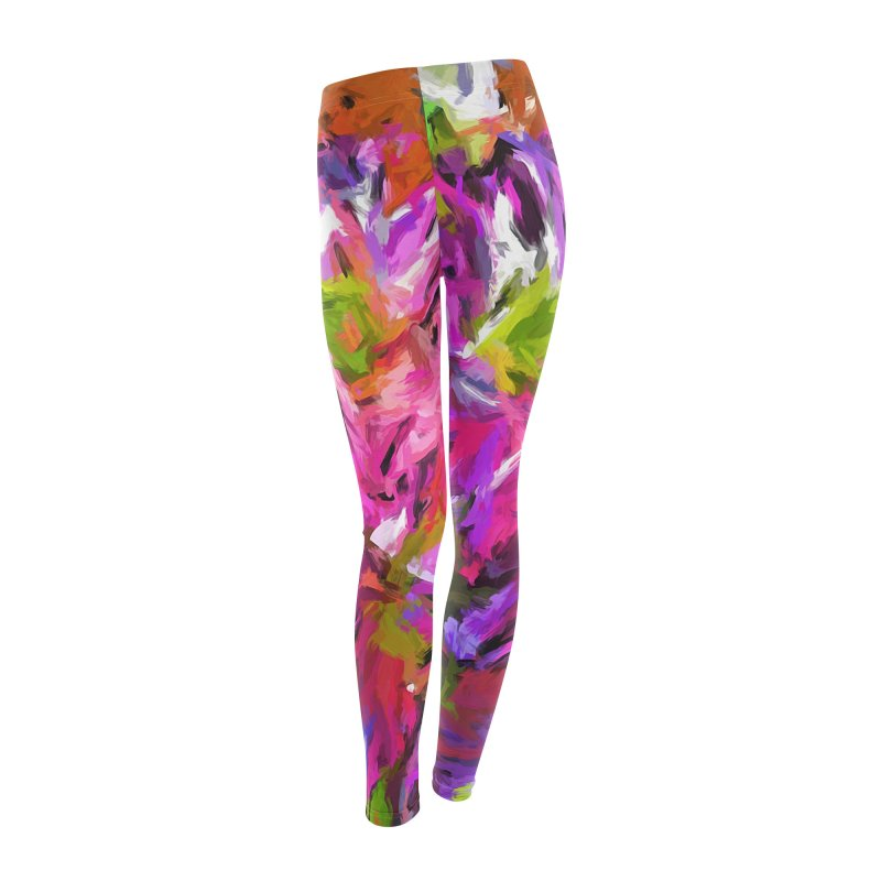 Daisy Rhapsody in Purple and Pink Women's Leggings Bottoms by jackievano's Artist Shop