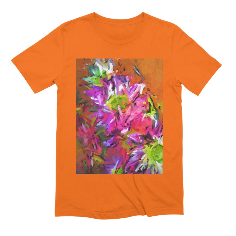 Daisy Rhapsody in Purple and Pink Men's Extra Soft T-Shirt by jackievano's Artist Shop